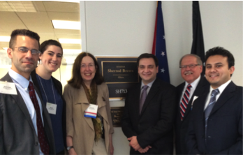 FMCC attendees outside the office of Senator Sherrod Brown, D-OH.